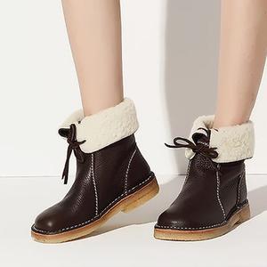 C.P.U.Duckfeet舒适牛皮羊毛短靴(每个ID限购5件)